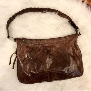 Latico Brown Leather Hobo Handbag